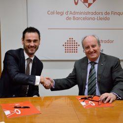 Miquel Castro, Director General de AparCar y Enrique Vendrell, Presidente del CAFBL