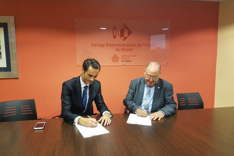 Firma de convenio de colaboración con el Col·legi d'Administradors de Finques de Girona